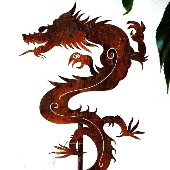 Chinese Dragon Garden Art Stake-Fast Shipping