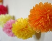 Starburst .. Party Poms Garland for Nursery Decor / Wall Decor / Birthday and Party Decor