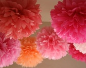 PINK LOVE Tissue Paper Poms