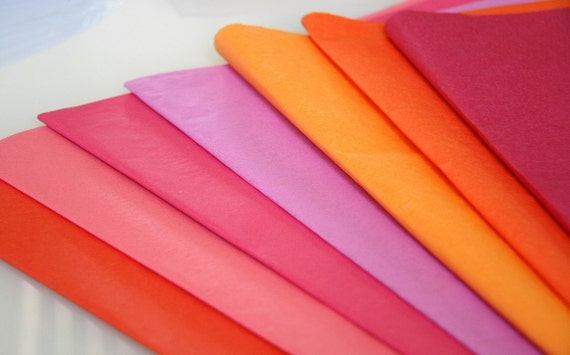 Tissue paper - 20 sheets / Craft Supply / Gift Wrap / Scrapbook / Paper Decoration