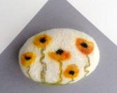 Felted Soap Orange Calendula Honey with Marigold Motif Gardener Gift