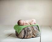 Chunky Mini Blanket in Grass 28x18 inches