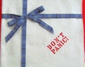 DON'T PANIC Organic Cotton Flannel Handkerchief