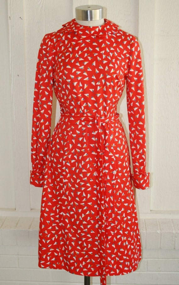 Rattle His Cage - 60's Pop'n Red Day Dress