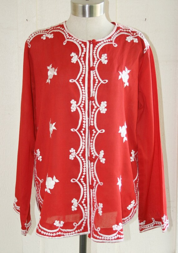 Be My Valentine - Embroidered Tunic - Large to Extra Large