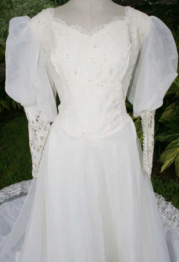 Until the End of Time - Circa 1970's -1980's - Long Train - Wedding Gown