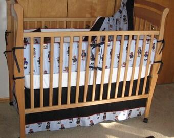 ABC  Baby Crib Bedding Set - Featuring Ralph Lauren Polo Teddy Fabric