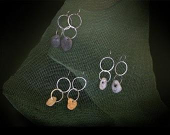 Stone Link Earrings