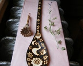 custom wooden spoon-flower lovebird woodburned utensil, wedding gift, hostess gift