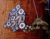 custom bell ornament, wood burned, ooak flower leaf design, rustic holiday decoration, emblazoned-burnedfurniture