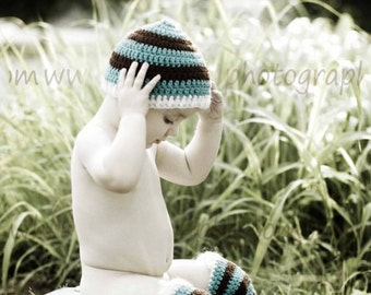 Stripped Hat and Legwarmer  Photo Prop Set - Custom Colors Available