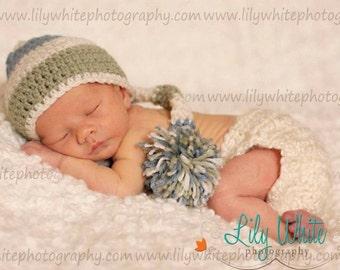 Boys Elf Newborn Photo Prop Hat - Custom Colors Available