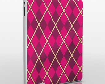 argyle iPad skin, pattern iPad sticker for iPad and iPad mini, geometric argyle decal