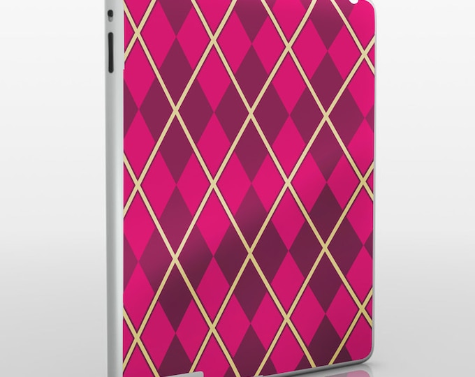 argyle iPad skin, pattern iPad sticker for iPad and iPad mini, geometric argyle decal, FREE SHIPPING