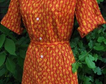70s JUMPER dress, vintage Hippie Era Rocker jumper skort dress, scooter dress