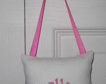 Ella Counted Cross Stitch Hanging Pillow