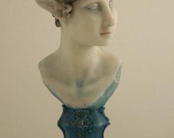 Blue Atlantean Elf Bust