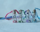 Custom Personalized Message in a Bottle Pixie Sparkle Necklace