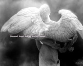 CUSTOM ORDER-VICTORIAGIRL2, Angel Wings Print, Black and White Photography, Angel Art Photography Prints Wall Art