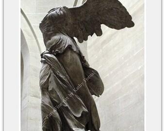 Paris Photography, Louvre Angel Sculpture, Paris Angel Wall Art, Winged Victory Samothrace Angel, Paris Louvre Museum Angel Wall Art Prints