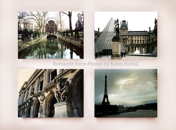 Paris Photography, Neutral Retro Paris Prints, Classic Paris Urban Wall Decor Print Set, Paris Architecture Art, Paris Fine Art Photography