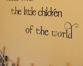 Jesus loves the little children Vinyl Wall Decal