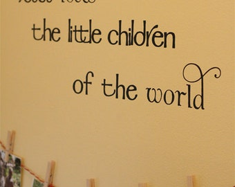Jesus loves the little children Vinyl Wall Decal (K-042)