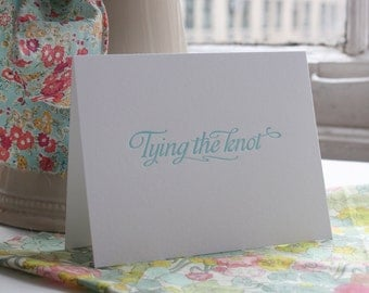Congratulations Engagement Card - Happy Engagement - Tying the Knot