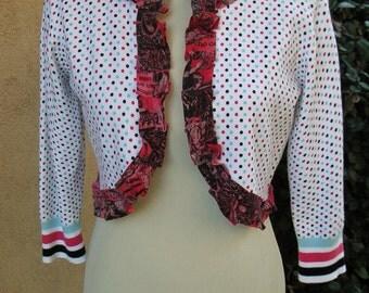 SALE-Women's Upcycled Medium Crop Sweater- Good Humor