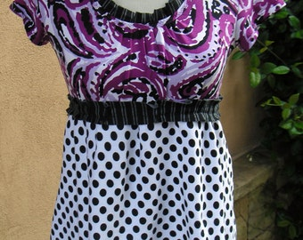 Women's Upcycled XS Baby Doll Top