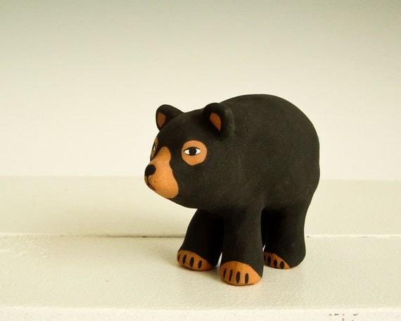 Bear Totem Clay Animal, Black Bear Spirit Guide - Power Animals - Little  Bear