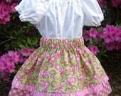 Toddler Peasant Blouse Sew Dainty Under Slip or Blouse PDF Pattern, Sizes 12M-6C, Stylish Peasant Blouse