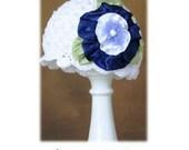 Crochet Hat Pattern with Ribbon Flower Combo Cloche Pattern, Beanie, PDF Epattern, Easy Crochet Hat