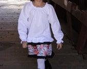 Summer SEW FLATTERING Peasant Blouse PDF Pattern, Long, 3/4 or Short Sleeve, Shiring or Elastic Casing, Sizes 6m-14