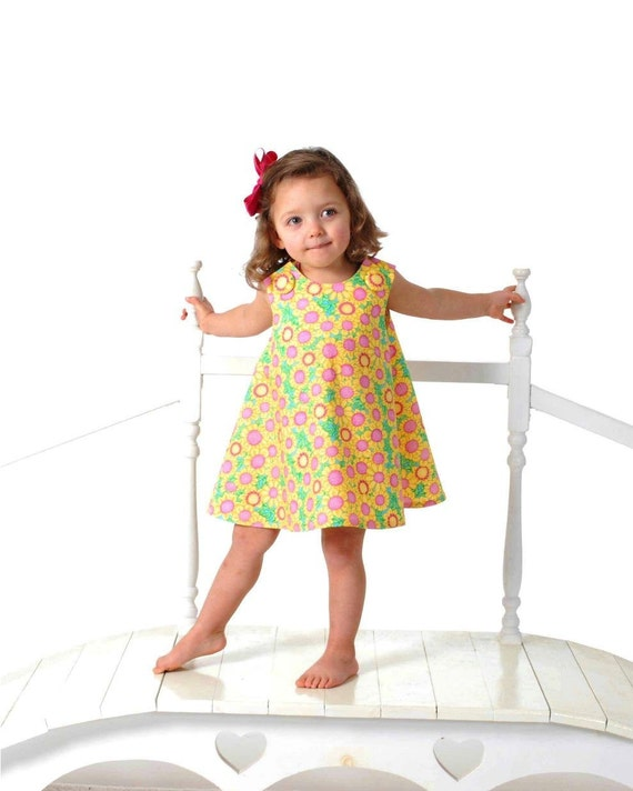 New SEW GIRLY A Line Dress pattern - Baby and Toddler - Classic Reversible Dress / Jumper Pdf pattern