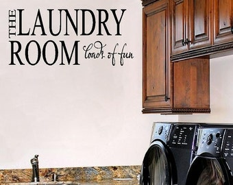Laundry Room Vinyl Wall Decal - Wall Quote VInyl Lettering Decal Sticker Transfer 15H X 32W Lr0009
