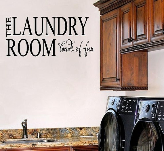 Laundry Room Vinyl Wall Decal Wall Quote Vinyl Lettering