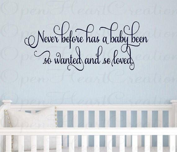 Childrens Wall Decal - Baby Nursery Wall Decal Vinyl Lettering Wall Transfer Sticker 10h x 32w BA0248