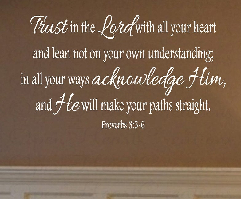 Scripture Wall Decals Trust In The Lord Wall Decal Vinyl - Custom vinyl wall decals christian