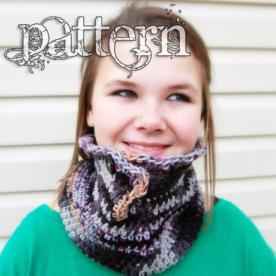 Button Up Split Cowl PDF Pattern - Instant Download