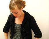 KNITTING PATTERN // Cozy Bolero // top-down super bulky sweater cardigan -- PDF