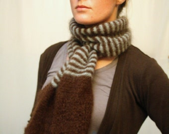 KNITTING PATTERN // Motley scarf // light weight lace stripe scarf -- PDF