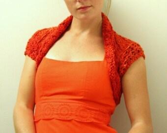 KNITTING PATTERN // Bazan shrug // cotton lace openwork -- PDF
