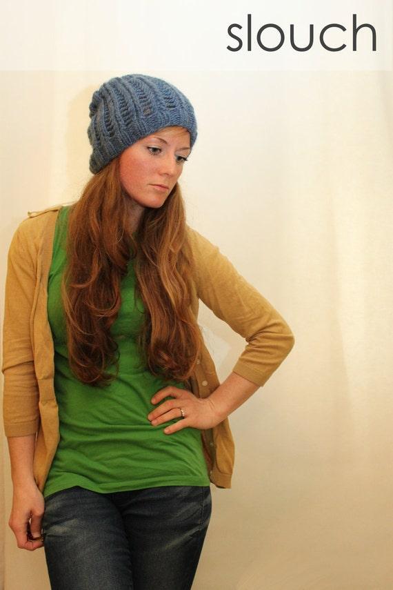 KNITTING PATTERN // Begbie Toque // lace rib hat -- PDF