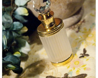 natural botanical perfume oil held captive within victorian style bottle -the bellatrix bottle (GLD)- 60+ orgasmically awesome aroma options