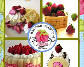 Macomb Country Strawberry Festival Felt Food PDF Pattern