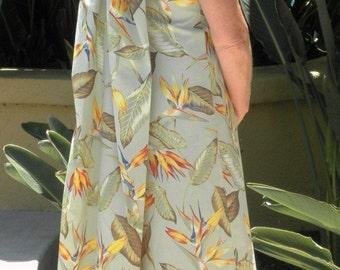 Made to Order: Wailua waterfall back Polynesian retro style dress