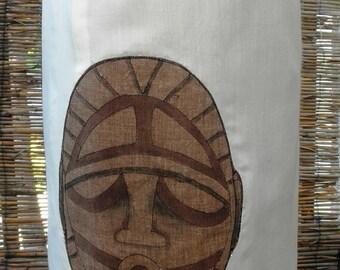 Price Reduced! Papua New Guinea Mask Pencil Skirt, TIKI & Tapa design
