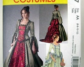 Pattern - McCall's M6097 Victorian style Top, Skirt, detachable Train & Bustle Size  AA 6 8 10 12