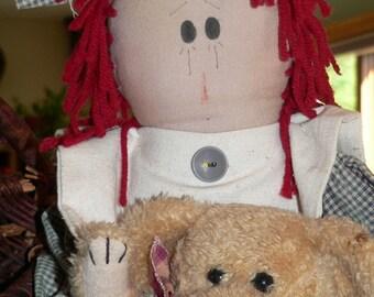 Primitive Annie Doll,  Primitive Decor, Primitive Dolls,  Home Decor. Country Dolls, Rag Dolls, Teddy Bears, Primitive Home Decor,    HAFAIR
